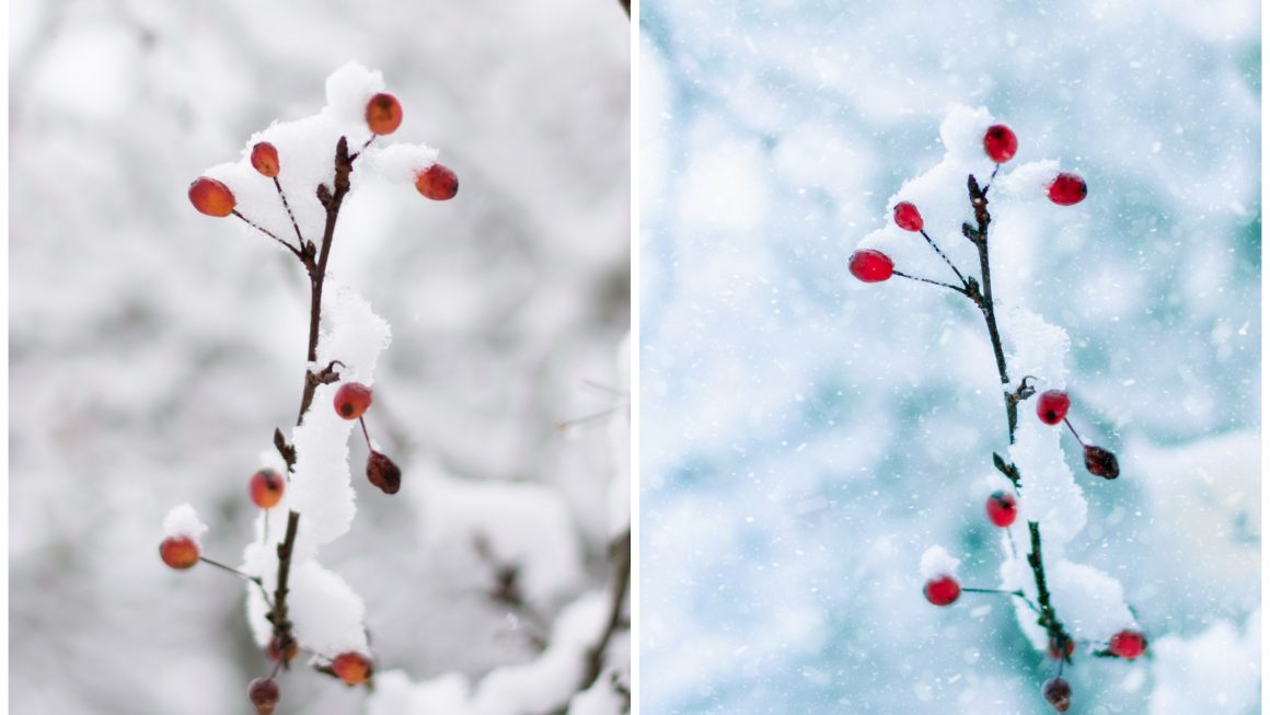How to add snow to your photos using mobile phone