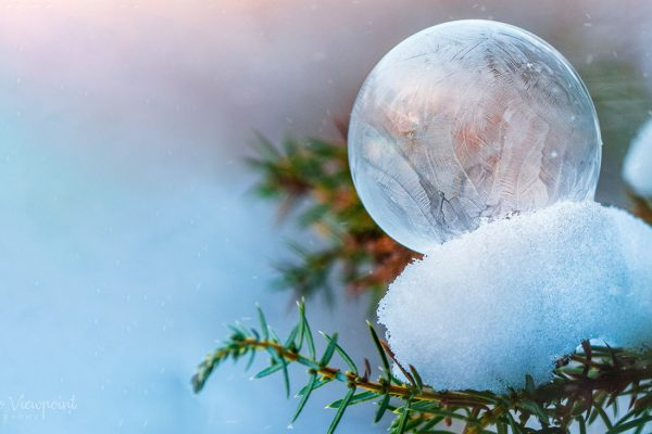 How to freeze soap bubbles? Perfect idea for a Winter photo